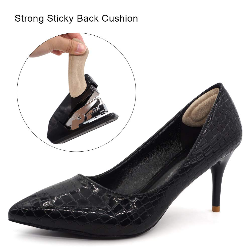 Dr. Shoesert Heel Grips for High Heels, Heel Cushion Inserts for Women and Men, Self-Adhesive Heel Protectors (3 Colors - 3 Pairs)