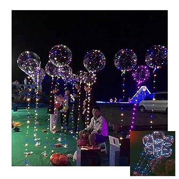 20/'/' Luminous LED Balloon Transparent Round Bubble Decoration Wedding Party