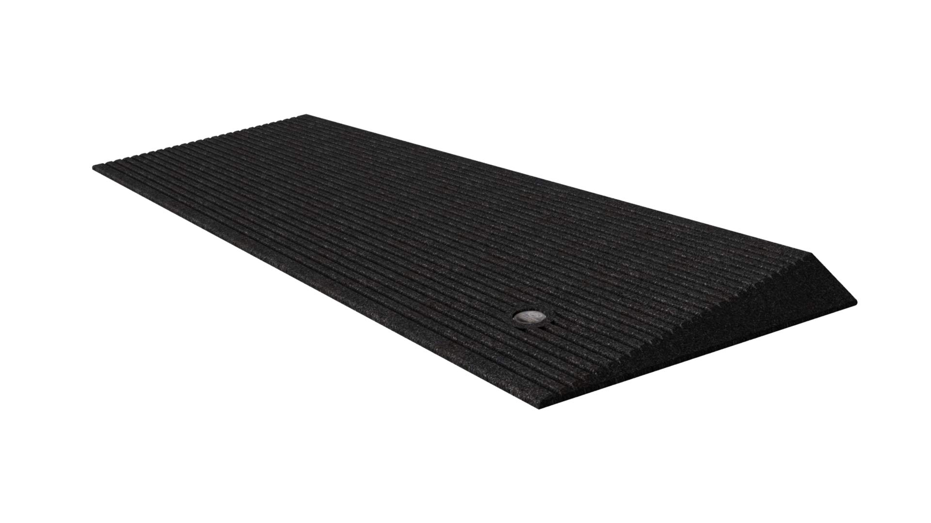 EZ-ACCESS TRANSITIONS Rubber Angled Entry Mat in Black, 1.5'' Rise by EZ-Access