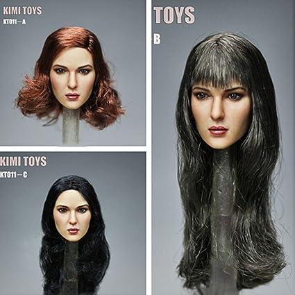 1//6 scale Female Head Sculpt A for 12/'/' Female body Doll