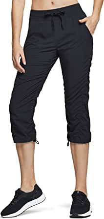 TSLA Women's UPF 50+ Lightweight Track Pants, Quick Dry Hiking Jogger Pants, Athletic Running Pants with Pockets