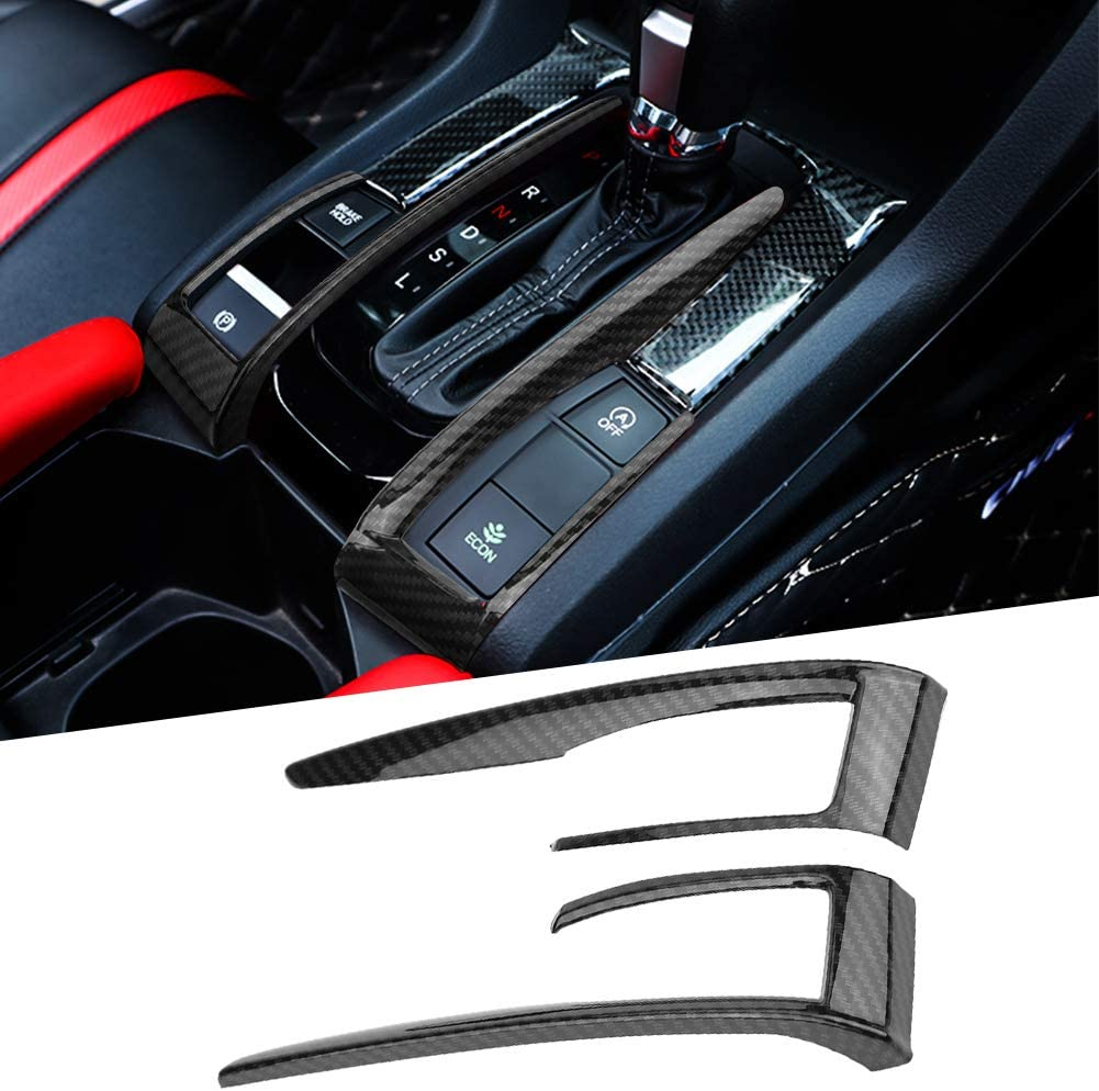 KIMISS 2pcs ABS Car Air Outside Frame Cover Trim Decoration for Honda Civic 10th 2016-2018