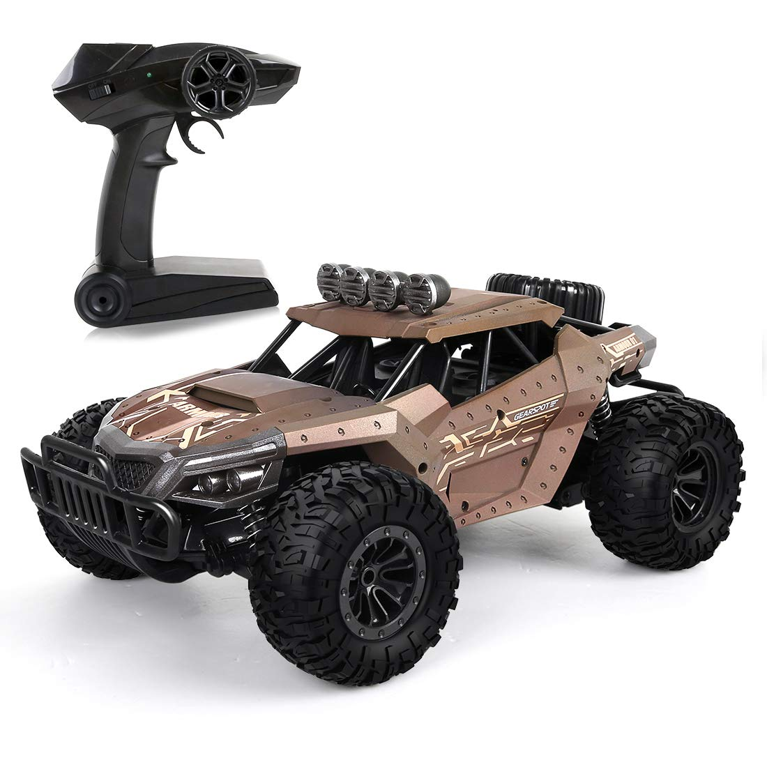 Yellow LBLA Rc Car 2.4Ghz Controlled Car Rtr Fast Racing Cars 20 km h Remote Control Car Offroad Monster Truck Rc Vehicle (Yellow)