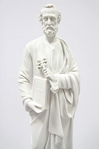24.5 Saint St. Peter Holding The Key of Heaven Catholic Statue Figurine by Vittoria Collection Made in Italy