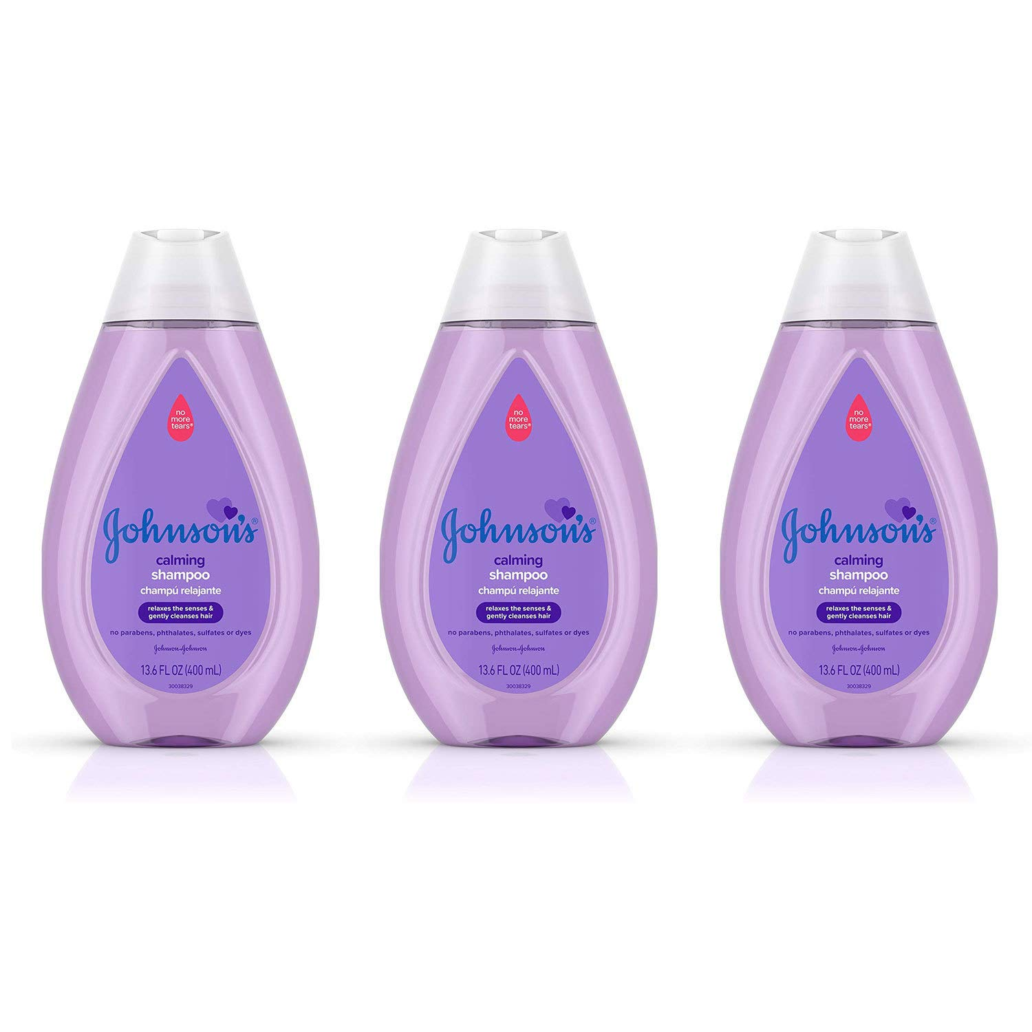 Johnson's Calming Baby Shampoo with Soothing NaturalCalm Scent, 13.6 fl. oz (Pack of 3) by Johnson's Baby