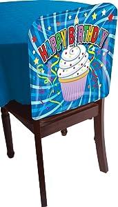 Forum Novelties 76118 1 Happy Birthday Cupcake Dessert Chair Cover Party Decoration