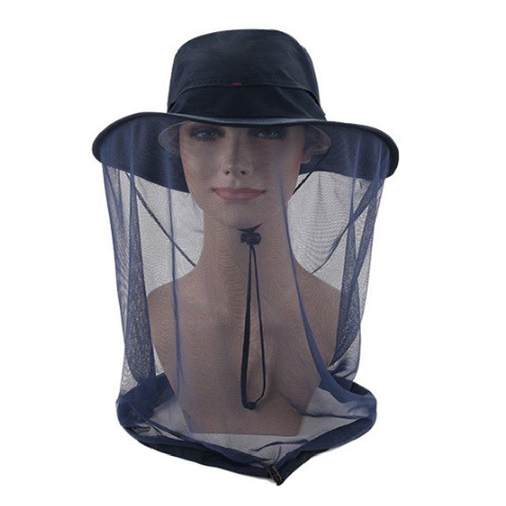 Vosarea Bee Hat extérieur Anti-Moustique tête Net Hat Anti-crème Solaire avec Protection du Visage de la tête de Moustique Insecte Insecte pour la pêche Chapeaux