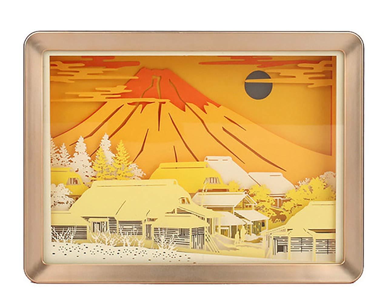 Mount Fuji Mood Night Light Romantic Atmosphere Lover CHSHY 3D Paper Carving Lampe Night LED Paper Cut Shadow Light Box