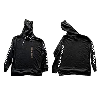 ed1bec729e Image Unavailable. Image not available for. Color  Pink Victoria Secret  Black Checkered Hoodie