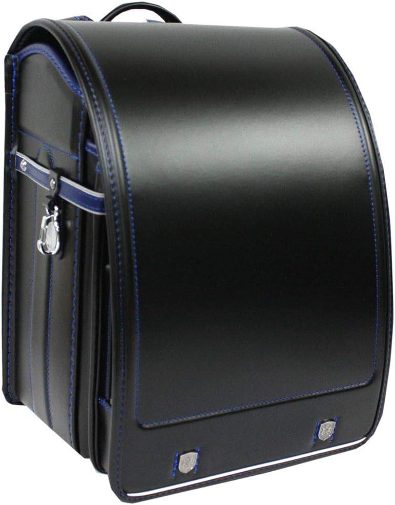 2020年度モデル フィットちゃんランドセル 男の子 タフロックエンブレム 1193 日本製 A4フラットファイル対応 ブラック×マリンブルー