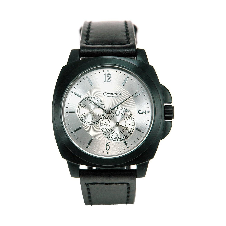 Cinewatch 707545404 Herrenarmbanduhr - MODERN TIMES - Automatik Miyota 8247 - Edelstahl schwarz - Lederband - 5 ATM