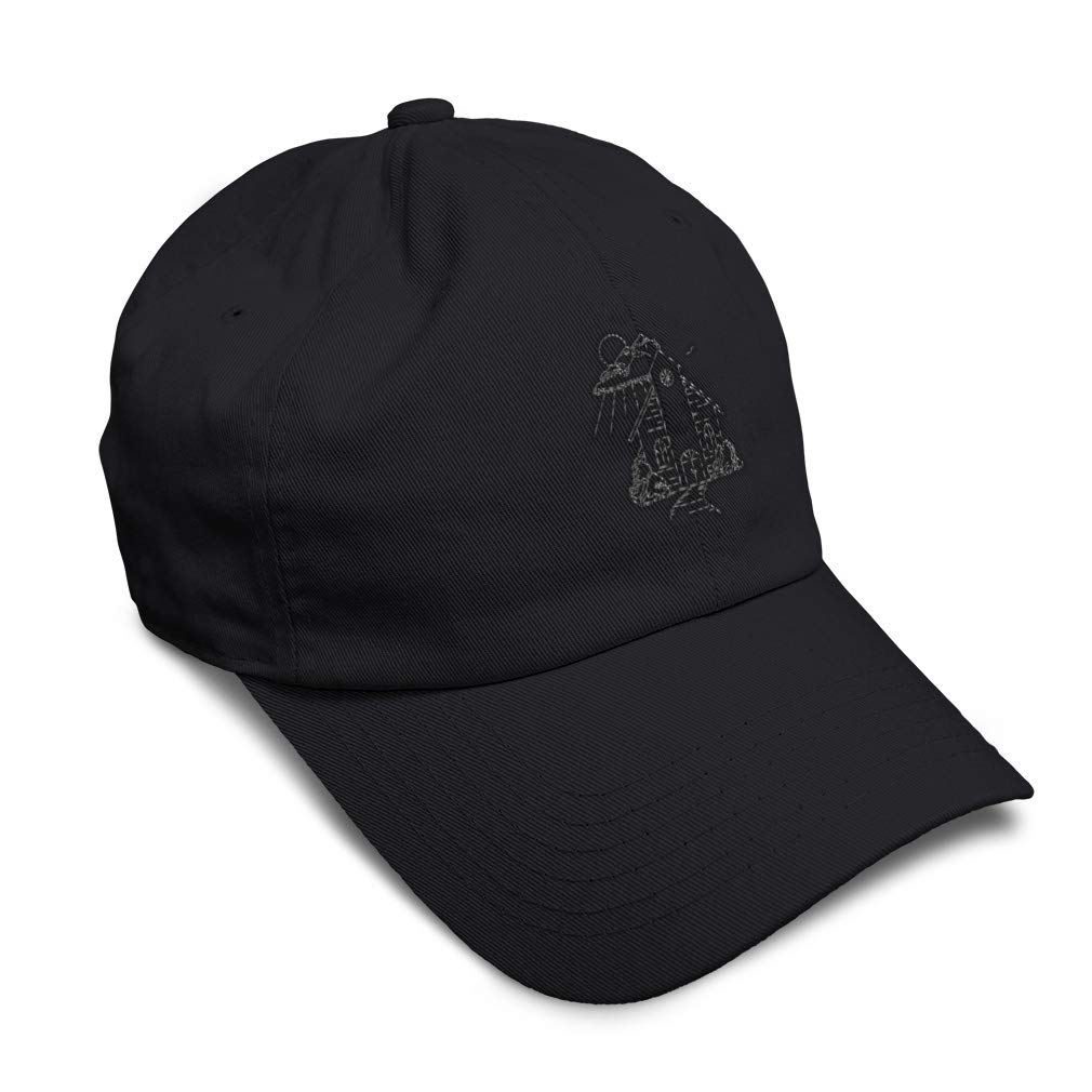 Custom Soft Baseball Cap Church Outline Embroidery Dad Hats for Men /& Women