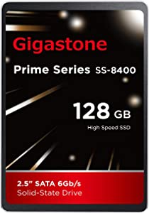 """Gigastone 128GB 2.5"""" Internal SSD, 3D NAND Solid State Drive, SATA III 6Gb/s 2.5 inch 7mm (0.28""""), Read up to 550MB/s"""