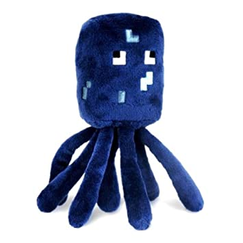 Amazon.com: Minecraft Squid Plush & Official Minecraft Plastic Figure Hanger (1 Random Figure): Toys & Games