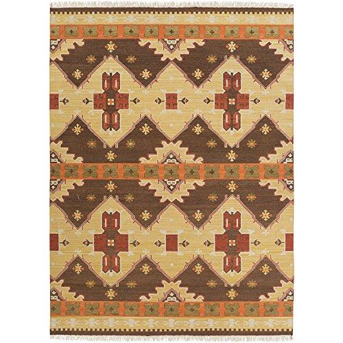Surya Jewel Tone II JTII-2035 Transitional Hand Woven 100% Hard Twist Wool Hot Cocoa 8' x 11' Southwest Area Rug