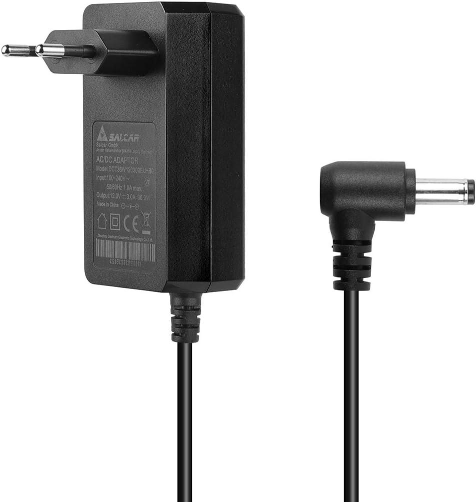 SALCAR EU 12V 3A 36W Adaptador + Cable de Alimentación Universal para Las Tiras de LED/LCD TFT Monitor 5.5 mm x 2.5 mm