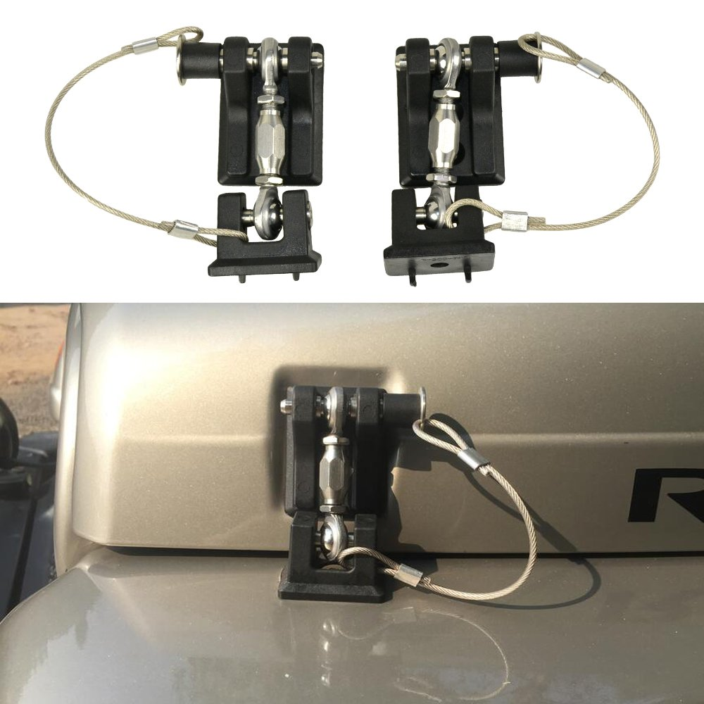 Micephon Hood Locks Hood Latches for Jeep Wrangler TJ 1997-2007, Anti-Theft, Heavy Duty Alloy, 1 Pair