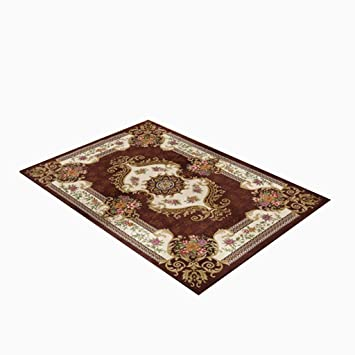 Wohnzimmer Schlafzimmer Teppich Tür Matratze Kaffeetisch Teppich Braun Weiß  Acryl Material Pflanze Blumenmuster Rechteck 120 *