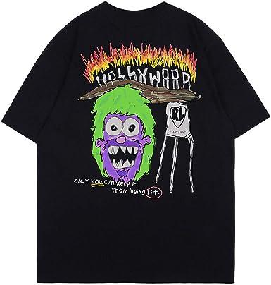 Camiseta Hombre Casual Manga Corta Moda Verano Camiseta Hip Hop Letra Imprimir Algodón Suelto Cuello Redondo Camiseta: Amazon.es: Ropa y accesorios