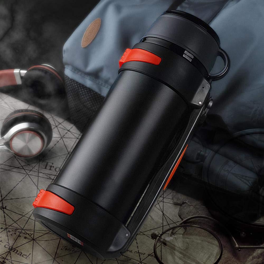 Yarmy Thermos Tasse Edelstahl Vakuum Reisen Isolierung Outdoor Portable große Kapazität Topf 2,1 l - 3 l Wasserkocher Größe: 34,5  11 cm