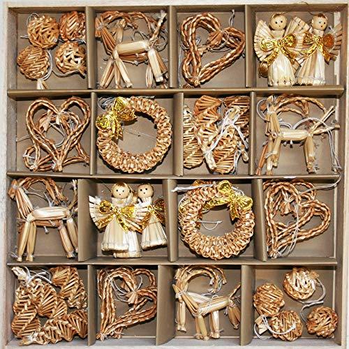 ScandinavianShoppe Straw Ornaments - Boxed Assortment (48 pc)