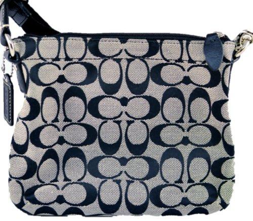68e5153ff2 coach signature crossbody bag black and white