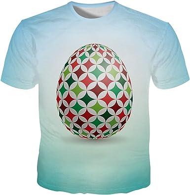 Kisbcynesting Camiseta de los Hombres 3D Huevos de Pascua Impreso Paisaje Divertidos de la Camiseta de los Hombres Camisetas Frescas Camisa 5XL 3D T Shirts: Amazon.es: Ropa y accesorios