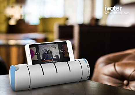 SimpleHH Water Bottle w/Bluetooth Speaker 18oz Electronic Sports Water  Bottle| Portable & Multipurpose | Phone Holder & Snap Shot Use| BPA-Free,  Leak