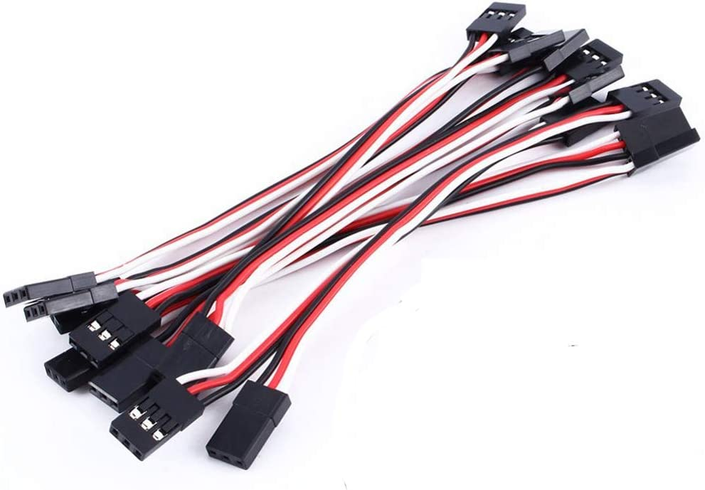 Lopbinte 25 Pcs JR Style Servo Extension Cable,Servo Cables,Male to Female JR Plug RC Servo Extension Lead Wire for RC Car