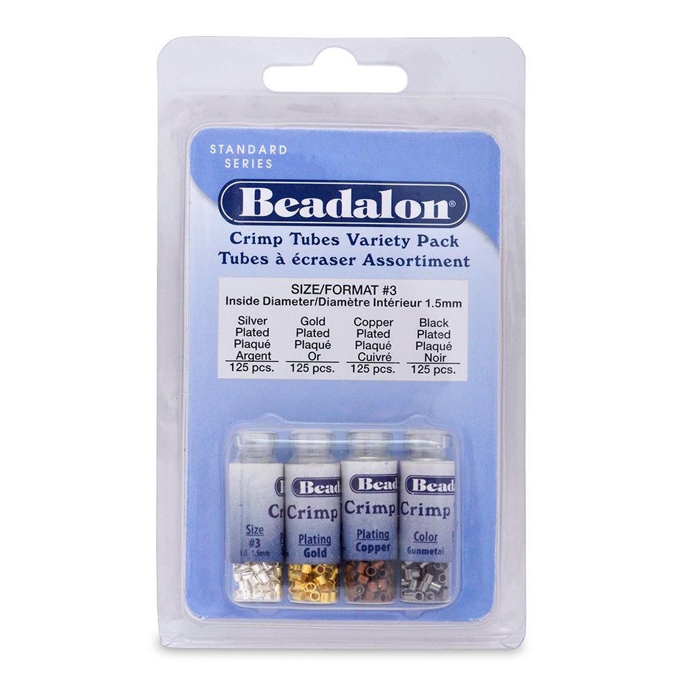 Beadalon 500-Piece Crimp Tube Variety Pack 305X-133