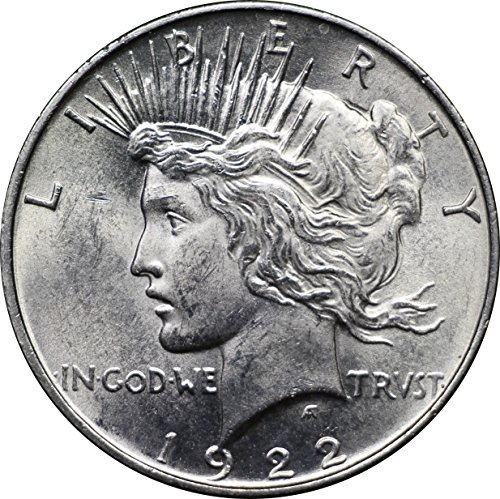 1922-1925 U.S. Peace Silver Dollar Coin, Nearly Mint State Condition