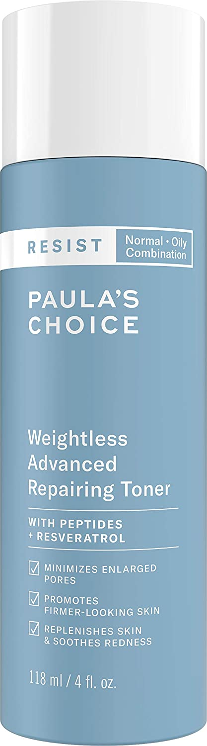 Paula's Choice RESIST Weightless Advanced Repairing Toner, Niacinamide & Hyaluronic Acid, Wrinkles & Large Pores, Oily Skin, 4 Ounce