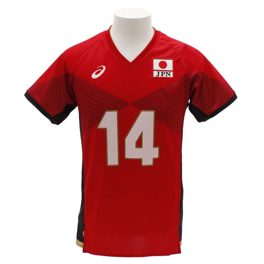 アシックス(アシックス) 全日本男子バレーボールチーム オーセンティックシャツ 石川祐希 2051A002.601 B07FB3Q98G レッド L