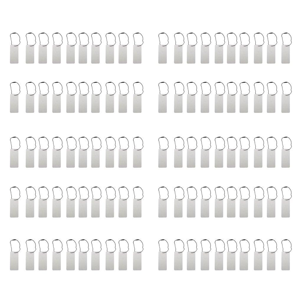 MagiDeal 100 Pezzi Cartellini Prezzi Targhette e Etichette con Corda Nera per Abigliamenti Vestiti