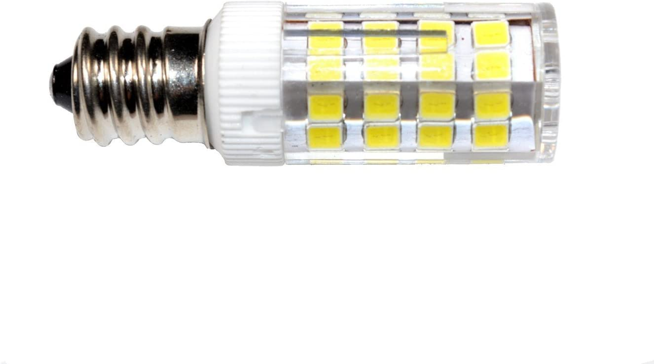 HQRP - Bombilla LED (E12, 220 V, luz blanca fría, para Brother ...