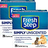 Fresh Step Multi-Cat, Clumping Cat Litter, Unscented (25 lb - 2 box)
