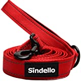 Sindello Heavy Duty Reflective Dog Leash - Padded Handles Traffic Handle Leash For Extra Control 6ft Long 1inch Width – Perfect For Medium to Large Dogs