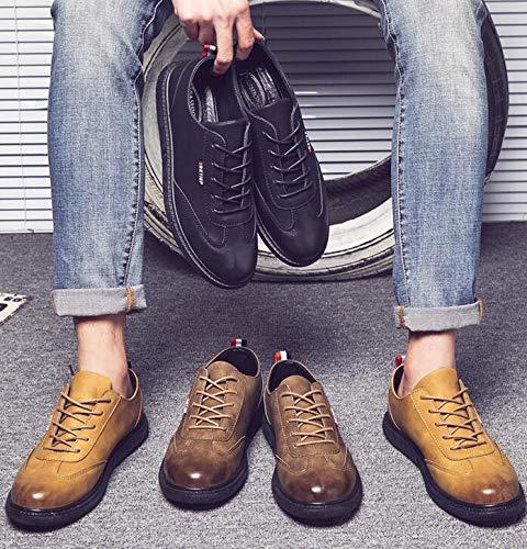 De Negro Hombre Eu Poliuretano Zapatos Family Cordones 39 Para Marrón Punk qwUEFU