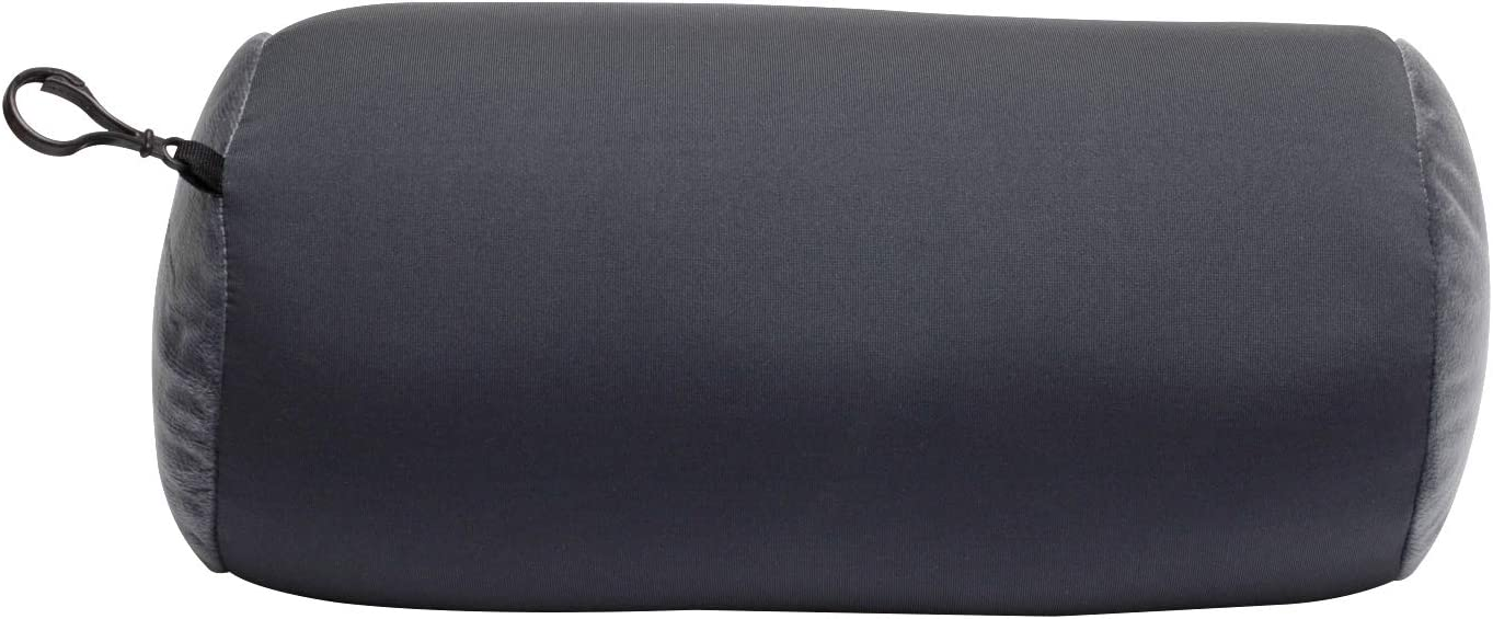 World's Best Microbead Bolster Tube Pillow, Smooth Cool Touch Fabric, Neck or Back Support Pillow, Hypoallergenic, Charcoal