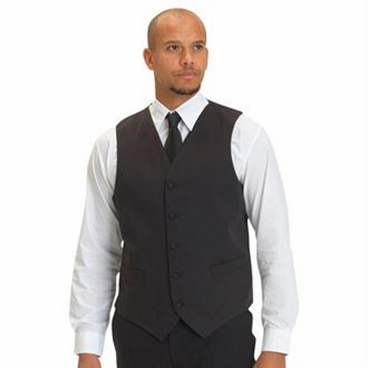 Unisex plain waistcoat (DS27) - part of the Joseph Alan Collection(Black, XS)