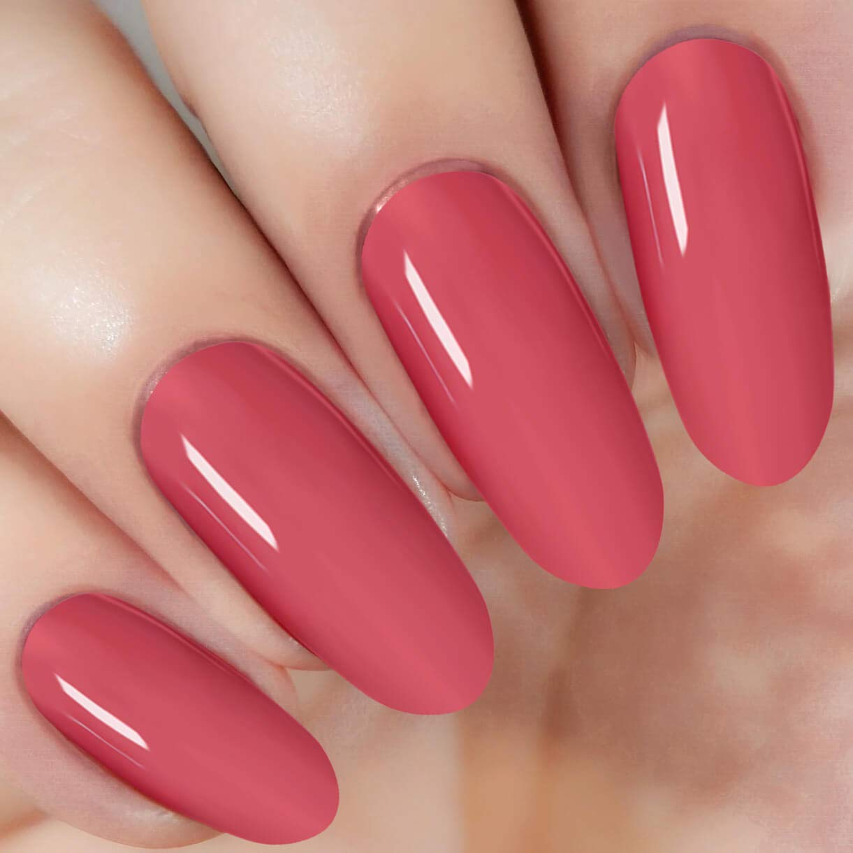 Neon Red Nail Dipping Powder (added vitamin) I.B.N Acrylic Dip Powder Colors, 1 Ounce/28g, No Need Nail Dryer Lamp Cured (DIP 023)