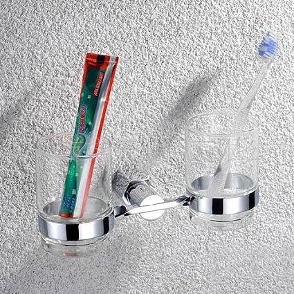 LINA @ baño accesorios doble cobre cromo porta cepillos