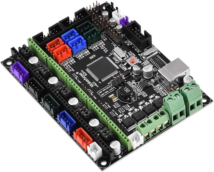 Wendry Placa de Controlador MKS Gen L V1.0,Kit de Impresora 3D Mainboard,Rampas 1.4 Extrusora Doble Táctil,Compatible con el Controlador A4988, DRV8825, TMC2100,ect