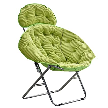 Green Moon Chair Lazy Corduroy Tela Plegable Sun Loungers ...