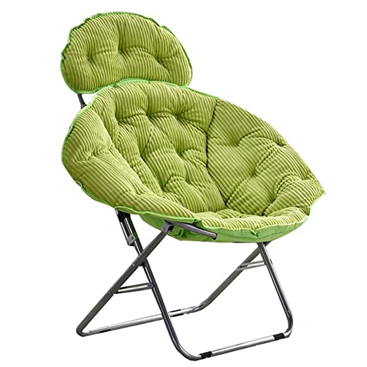 Green Moon Chair Lazy Corduroy Tela Plegable Sun Loungers ...