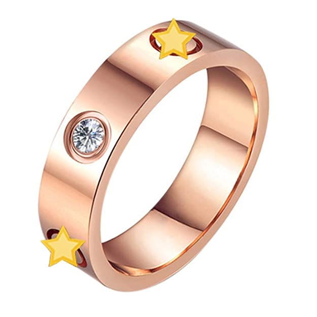 d5e861c26e9d Oro rosa anillos de boda titanio acero inoxidable cabeza del tornillo