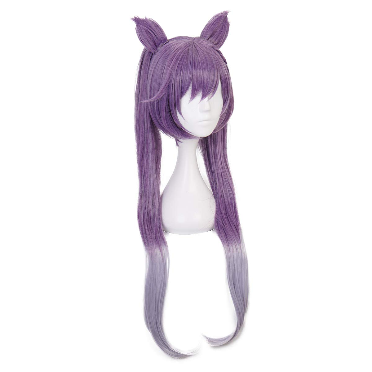 Qiancoshair Genshin Impact Keqing Cosplay Wig Long Purple Synthetic Hair Wig with Ears for Halloween Party Wig (Keqing) : Beauty - Amazon.com