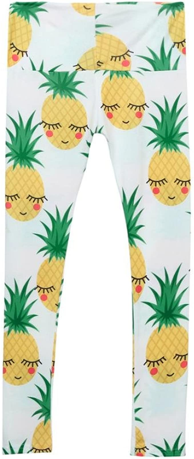 Amazon.com: iuhan Girls Skinny Piña Impreso elástico Yoga ...