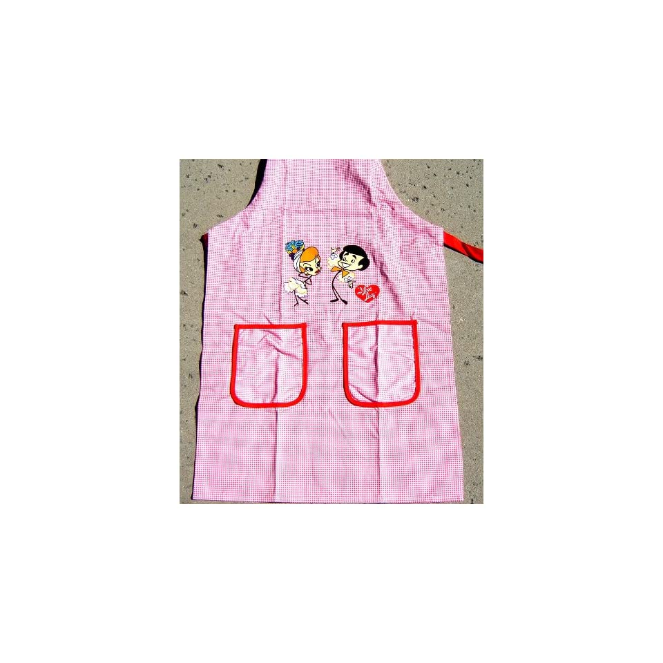 I Love Lucy Lucille Ball Stick Figure Kitchen Cooking Apron