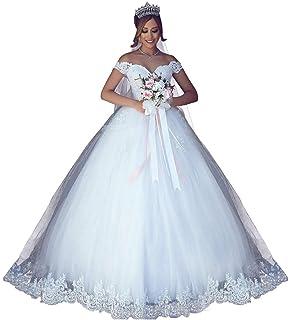 b46232557450d VinBridal 2018 Off Shoulder Ball Gown Wedding Dress Lace Applique Bridal  Gown